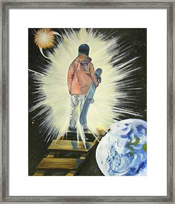 The Snowboarder's Dream Framed Print
