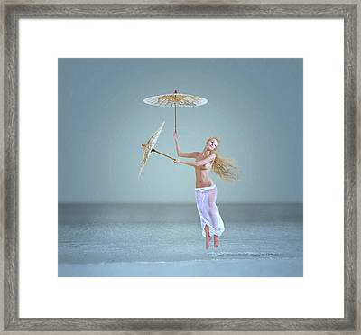 The Snowflake Dreamer Framed Print by Caras Ionut