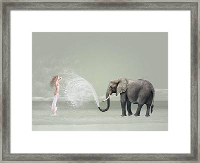 The Snowflake Dreamer II Framed Print by Caras Ionut