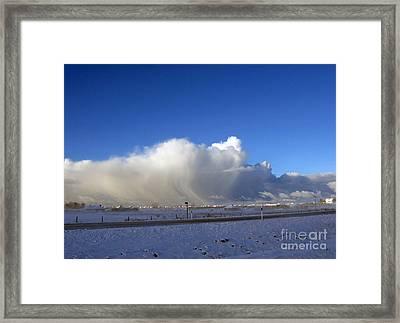 The Snowstorm Is Coming 01 Framed Print by Ausra Huntington nee Paulauskaite