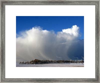 The Snowstorm Is Coming 03 Framed Print by Ausra Huntington nee Paulauskaite