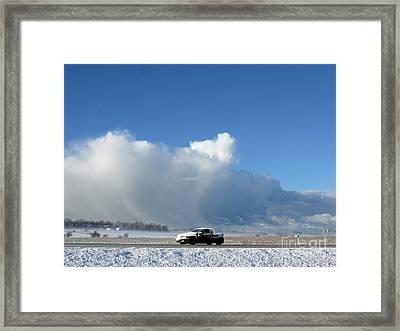 The Snowstorm Is Coming 04 Framed Print by Ausra Huntington nee Paulauskaite