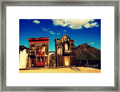 The Sombrero Bank In Old Tuscon Arizona Framed Print by Susanne Van Hulst