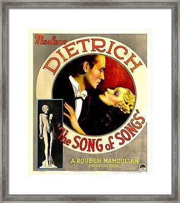 The Song Of Songs, Marlene Dietrich Framed Print by Everett