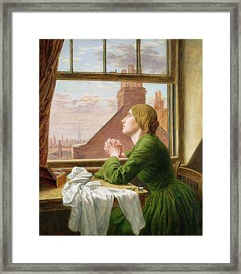 The Song Of The Shirt Framed Print by Anna E Blunden