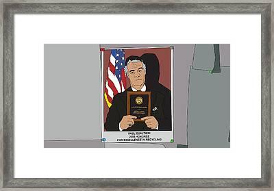 The Sopranos - Paulie Gualtieri Framed Print by Tomas Raul Calvo Sanchez