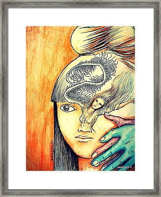 The Soul Is The Beginning And End Of Any Knowledge Framed Print by Paulo Zerbato
