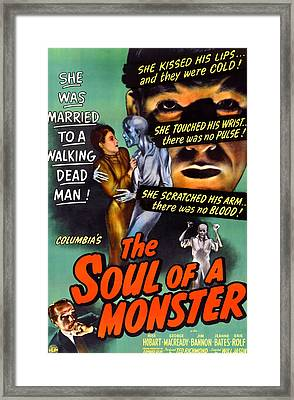 The Soul Of A Monster, George Macready Framed Print