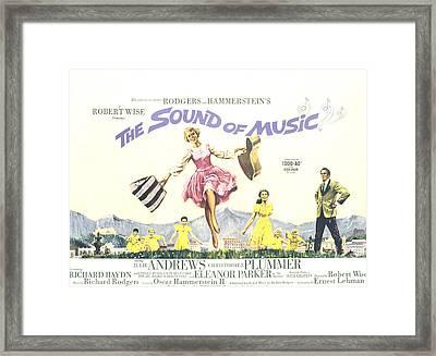 The Sound Of Music, Julie Andrews Framed Print by Everett