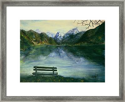 Framed Print featuring the painting The Sound Of Silence by Itzhak Richter