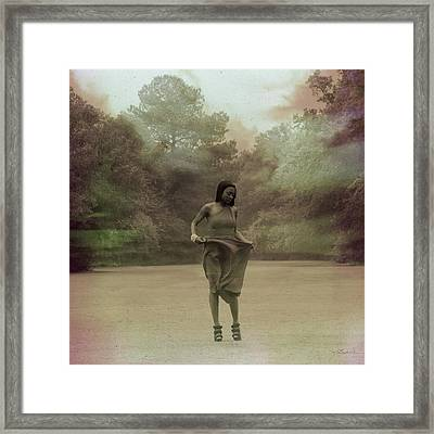 The Sounds From Beneath The Grass Framed Print by Melissa Wyatt