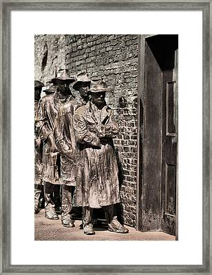 The Soup Line Framed Print by JC Findley