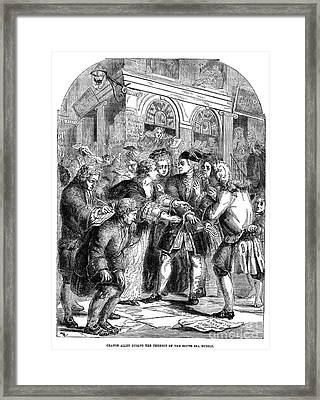 The South Sea Bubble, 1720 Framed Print by Granger