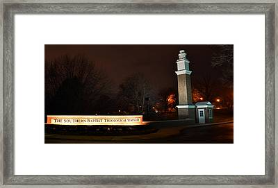 The Southern Baptist Theological Seminary Gate Framed Print