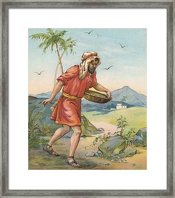 The Sower Framed Print by Ambrose Dudley