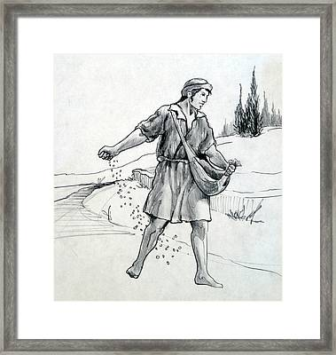 The Sower Framed Print by Ron Cantrell