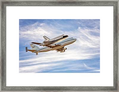 The Space Shuttle Endeavour Framed Print