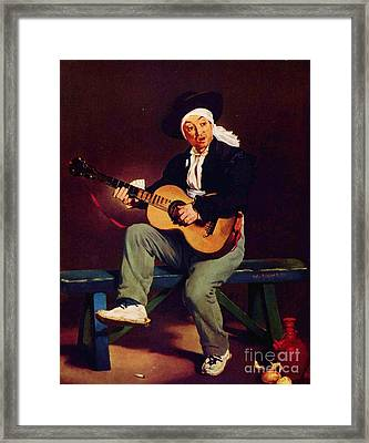 The Spanish Singer Framed Print by Pg Reproductions