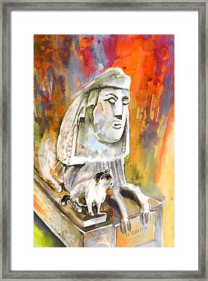 The Sphinx Of Petraion Framed Print by Miki De Goodaboom