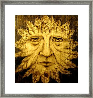 The Spirit Face  Framed Print by Keven Shaffer