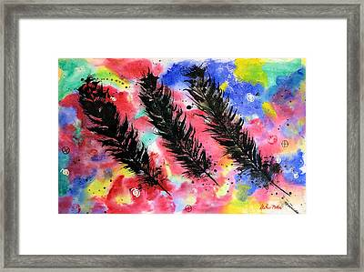 The Spirit Of Eagle Feathers Framed Print by Alethea McKee