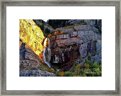 The Spirits Of Bridal Veil Falls Framed Print by Rodney Cammauf