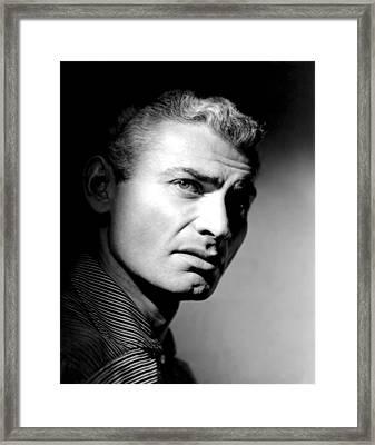 The Spoilers, Jeff Chandler, 1955 Framed Print