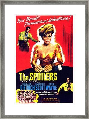 The Spoilers, John Wayne, Marlene Framed Print by Everett