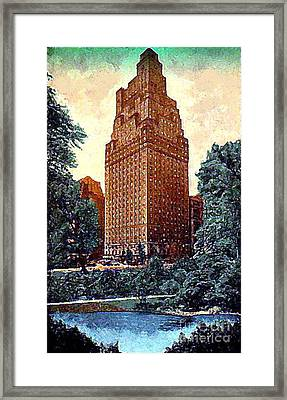 The St. Moritz Hotel In New York City In The 1930's Framed Print