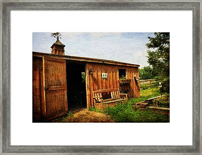 The Stable Framed Print by Paul Ward