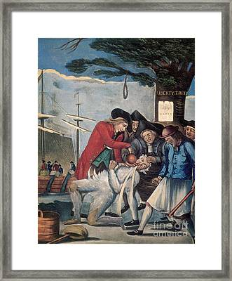 The Stamp Act Protests, 1774 Framed Print by Photo Researchers