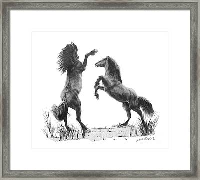 the Stand Framed Print by Marianne NANA Betts