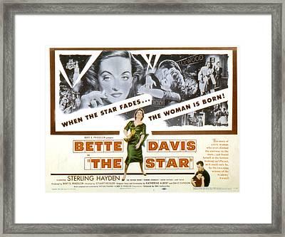 The Star, Bette Davis, Sterling Hayden Framed Print