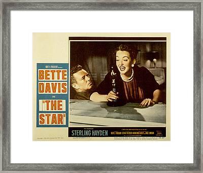The Star, Sterling Hayden, Bette Davis Framed Print by Everett