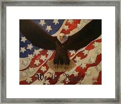 The Stars Of America Framed Print by Ruth Ann Murdock