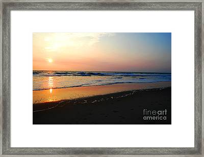 Framed Print featuring the photograph The Start Of A Good Day by Linda Mesibov