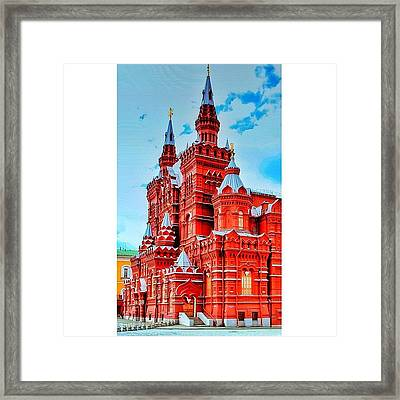 The State Historical Museum (russian: Framed Print by Tommy Tjahjono