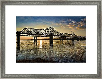 The State Line Framed Print by Ray Devlin