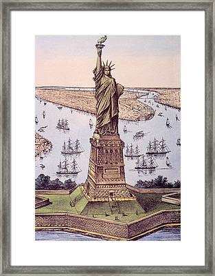 The Statue Of Liberty Aka The Great Framed Print by Everett