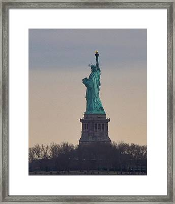 The Statue Of Liberty Framed Print by Bill Cannon