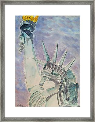The Statue Of Liberty Framed Print by Eva Ason