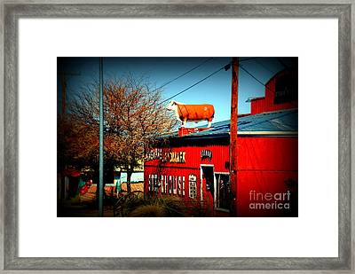 The Steakhouse On Route 66 Framed Print by Susanne Van Hulst