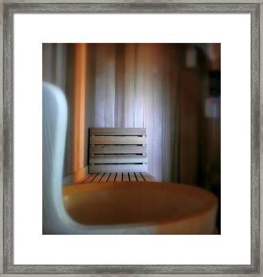 The Steam Room Framed Print by Lori Seaman