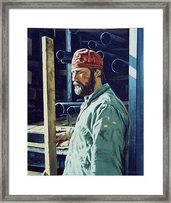 The Steamfitter  Framed Print by James Guentner