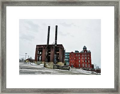 The Stegmaier Brewery - Wilkes Barre Framed Print