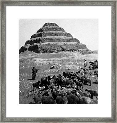 The Step Pyramid, Photograph 1896 Framed Print by Everett
