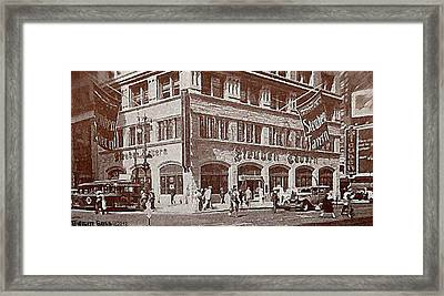 The Steuben Tavern In New York City C.1930's Framed Print by Dwight Goss