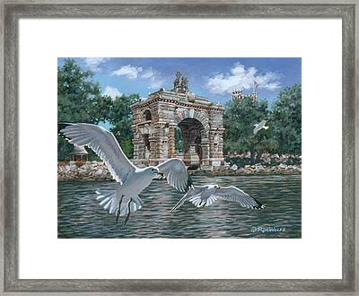 The Stone Arch Framed Print by Richard De Wolfe