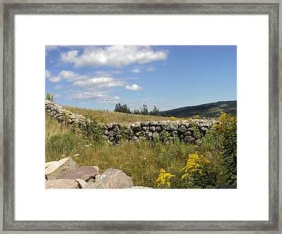 The Stone Fence Framed Print
