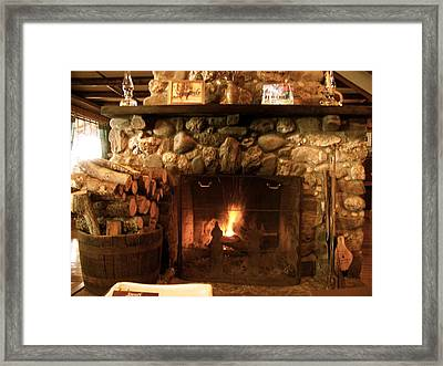 Stone Fireplace Framed Print